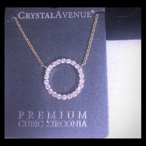 Jewelry - Cubic Zirconium circle bling necklace